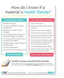 health-literate
